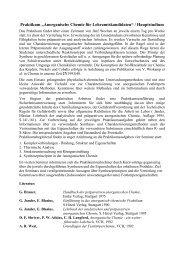"""Praktikum """"Anorganische Chemie für Lehramtskandidaten ..."""