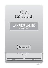 JAHRESPLANER - IGS List Hannover