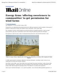 Energy firms 'offering sweeteners to communities' to get permission ...