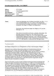 Verwaltungsgericht Köln, 14 K 5008/07