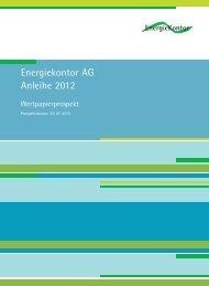 Energiekontor AG Anleihe 2012