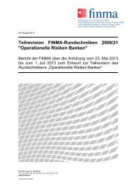 Anhörungsbericht - Finma