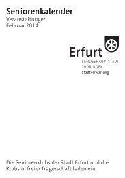 Seniorenkalender Februar 2014 - Erfurt