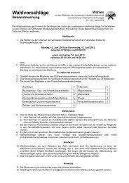Bekanntmachung der Wahlvorschläge - UStA
