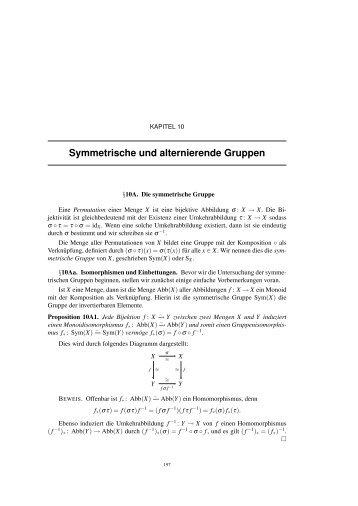 Symmetrische und alternierende Gruppen - IGT