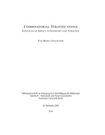 combinatorial stratifications - Studiengang Mathematik an der ...