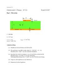 Elektodynamik 2, Übungen
