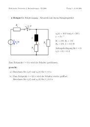 • Beispiel 1: Schaltvorgang - Netzwerk mit einem Energiespeicher ...