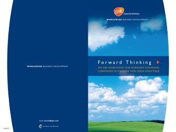GSK - Worldwide Business Development brochure