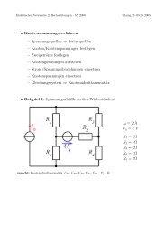• Knotenspannungsverfahren – Spannungsquellen ⇒ Stromquellen ...