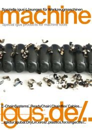 E-ChainSystems..ReadyChain.Chainflex Cables... Spezielle igus ...