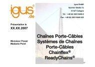 Chaînes Porte-Câbles Systèmes de Chaînes Porte-Câbles ...