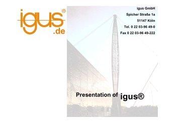 presentation of igus®.pdf
