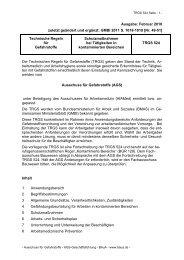 TRGS 524 - Bundesanstalt für Arbeitsschutz und Arbeitsmedizin
