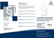 Gewerblicher Rechtsschutz Verwertung ... - IGZ Bamberg