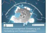 Forderungsmanagement: Entstehung und ... - IGZ Bamberg