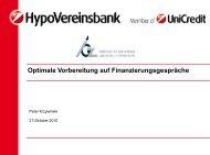 Optimale Vorbereitung auf Finanzierungsgespräche - IGZ Bamberg