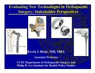 Evaluating New Technologies in Orthopaedic Surgery - Integrated ...
