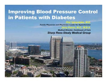 Improving Blood Pressure Control in Patients with Diabetes