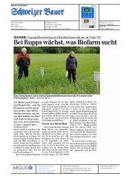 Bei Rupps wächst,was Biofarm sucht - Bioaktuell.ch