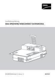 SMA SPEEDWIRE/WEBCONNECT DATENMODUL - SMA Solar ...