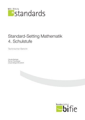 Standard-Setting Mathematik 4. Schulstufe - Bifie
