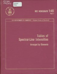 Tables of Spectral-Line Intensities - UNT Digital Library