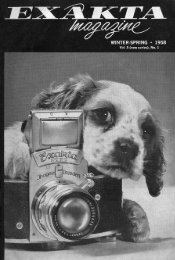 Exakta Magazine winter-spring 1958