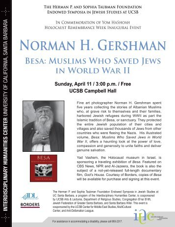 Besa: Muslims Who Saved Jews in World War II - Interdisciplinary ...