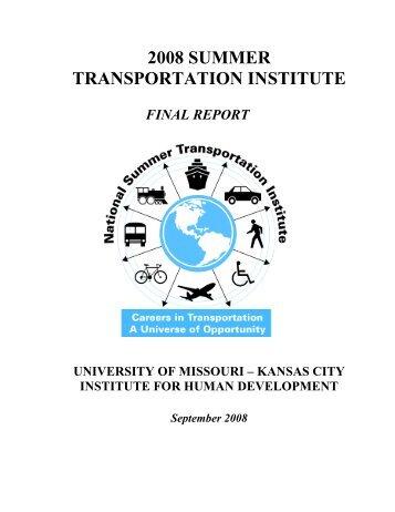 Kansas City Summer Transportation Institute - UMKC Institute for ...