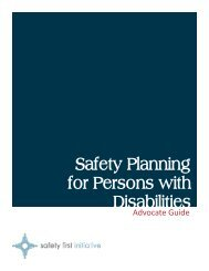 Safety Planning for Persons with Disabilities - Advocate Guide