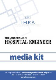 IHEA rate card.indd - Institute of Hospital Engineering, Australia