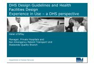 DHS Design Guidelines for Hospitals and Day Procedure Centres ...
