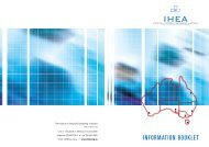 INFORMATION BOOKLET - Institute of Hospital Engineering, Australia