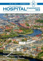vol. 35 - Institute of Hospital Engineering, Australia