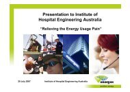 Relieving the Energy Usage Pain - Institute of Hospital Engineering ...