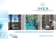 CHCFM Handbook - Institute of Hospital Engineering, Australia