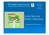 North East Health Laundry, Victoria - Linen serivce water reduction