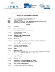 AGENDA PD2 2012 - Institute of Hospital Engineering, Australia