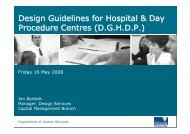 DHS Design Guidelines for Hospitals and Day Procedure Centres