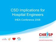 Central Sterilising Department Implications for Hospital Engineers