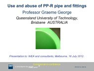 Use and Abuse of PPR Pipe Systems in Mixed Copper Hot Water ...