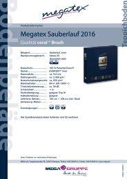 Technische Datenblätter PDF Download - MEGA eG