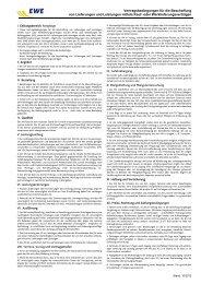 oder Werklieferungsverträgen - EWE AG