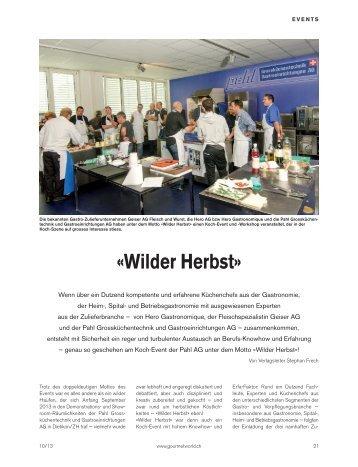 Die grosse Koch-Show von Hero, Geiser & Pahl AG