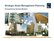 Strategic Asset Management Planning