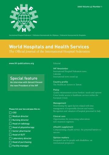 World Hospitals and Health Services - International Hospital ...