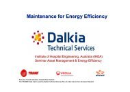 Chiller Maintenance & Energy Considerations - Institute of Hospital ...