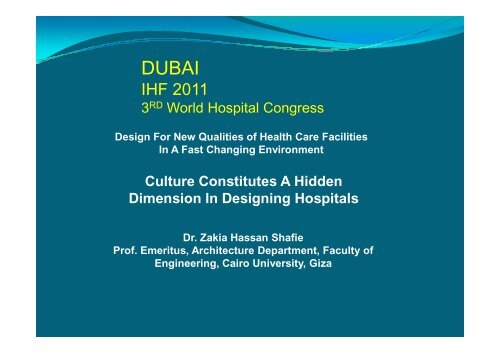 Zakia Shafie pdf - International Hospital Federation