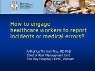 How to engage healthcare workers to report incident or medical errors